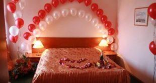 Романтическое оформление спальни